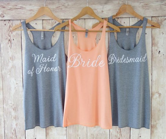 Bridesmaid Tank Top. Bridesmaid Tanks. by TheLittleBridalShop