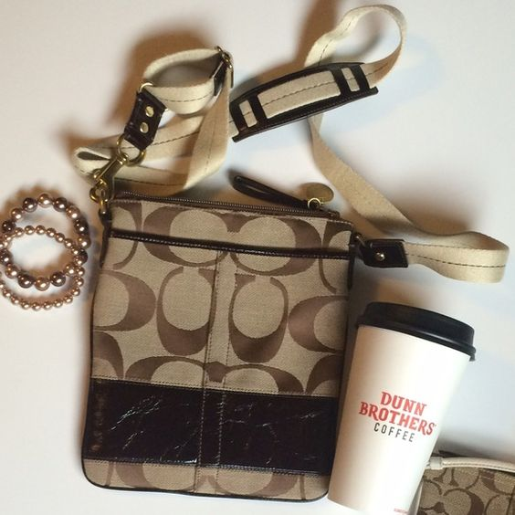 """COACH Authentic cross body COACH Authentic cross body • excellent condition! •9""""h x 7 1/2w • adjustable strap, zip closure, two external pockets • no ware on straps.   (MG36) Coach Bags Crossbody Bags"""