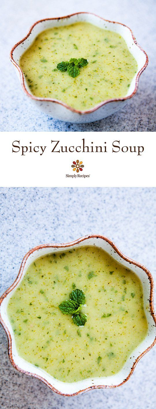 Spicy Zucchini Soup ~ Fresh and summery spicy zucchini ...