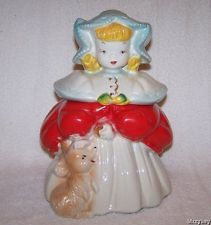 Vintage GOLDILOCKS COOKIE JAR Regal China 405 Pat. Pending 1950s