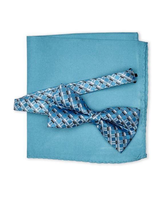 Michelsons Geometric Bow Tie & Pocket Square Set