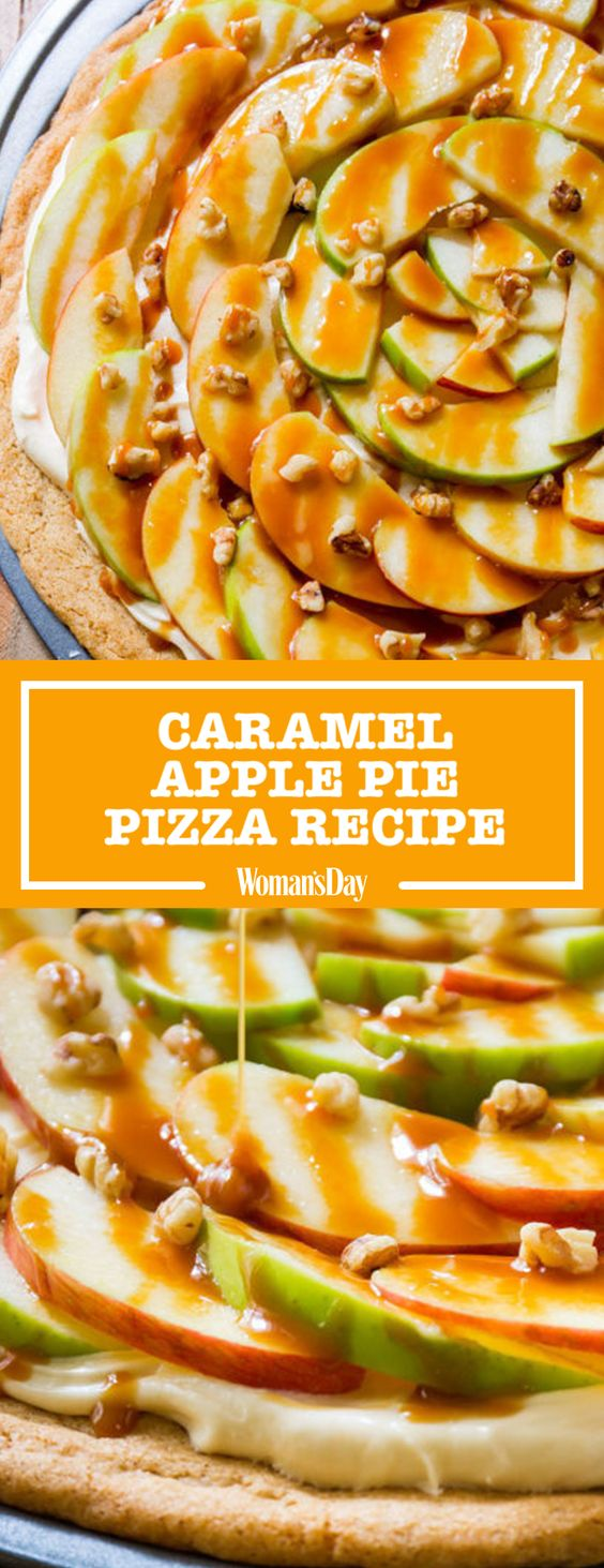 Eat pizza for dessert with this delicious caramel apple pie pizza recipe! This recipe is an easier way to enjoy the fall-favorite recipe caramel apples. Make this pizza for a fall harvest party or Thanksgiving!