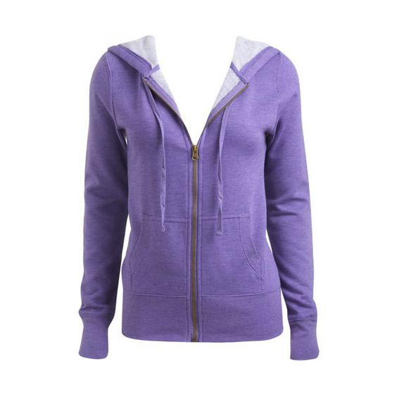 Cozy Zip Front Hoodie - Teen Clothing by Wet Seal ($10) ❤ liked on Polyvore featuring tops, hoodies, outerwear, sweatshirts, jackets, zip front hoodie, purple top, zipper front top, purple hoodies and hoodie top