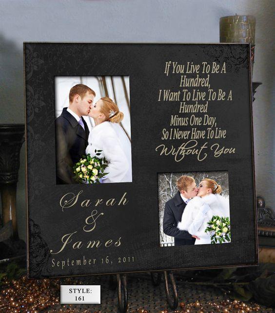 Personalized Wedding Photo Frame POOH 16x16  by PhotoFrameCompany, $69.00