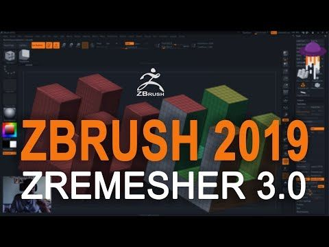 ZBrush 2019 - ZRemesher 3 0 - YouTube | Tutoriais Canal