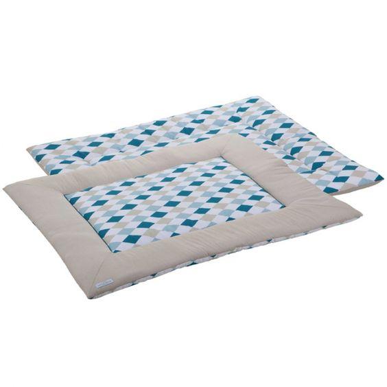 Superbe tapis de parc double face de la marque Little Dutch à utiliser également en tant que tapis de jeu sur le sol.
