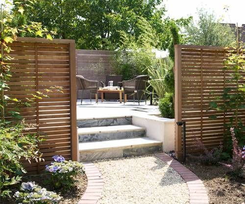 Create Secluded Areas With Wooden Garden Screening New Build Garden Ideas Backyard Garden Design Garden Screening