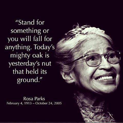 Rosa Parks- Civil Rights heroine Rosa Parks touched off the Montgomery, Alabama bus boycott by refusing to give up her seat in the colored section to a white passenger. Parks was arrested for civil disobedience but not without becoming an influential symbol for racial equality. Her court case served as step towards ending segregation laws in the south.