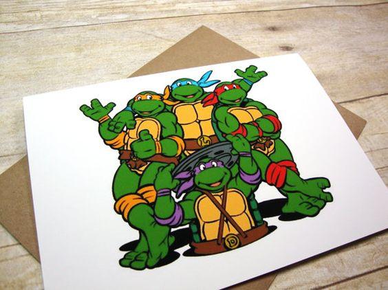 Funny Ninja Turtles Thank You Card