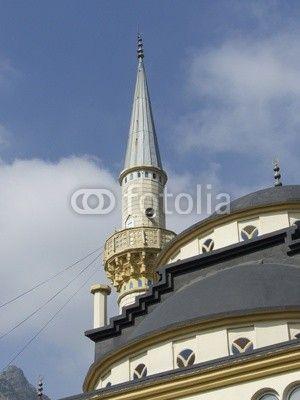 Moschee mit Minarett im Gebirge bei Adapazari in der Provinz Sakarya in der Türkei
