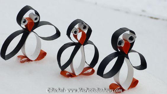 pingouins bricolage en promenade
