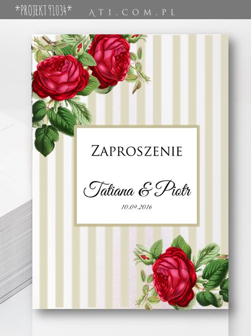 #zaproszenienaŚlub paski, kwiaty: