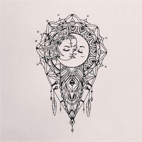 sun and moon mandala drawing tumblr - Google Search