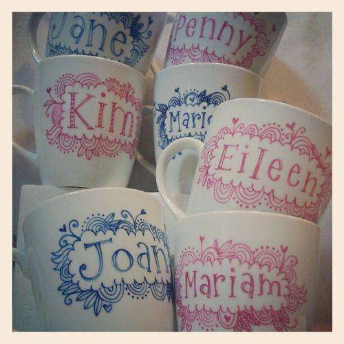 Ta da ... I've finished all seven #mugs now. #red #blue #m… | Flickr