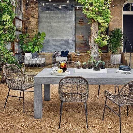 west elm modern teak outdoor dining