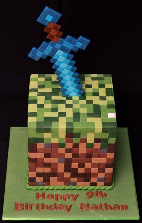 Minecraft Sword Cake Images : Minecraft, Cakes and Photos on Pinterest