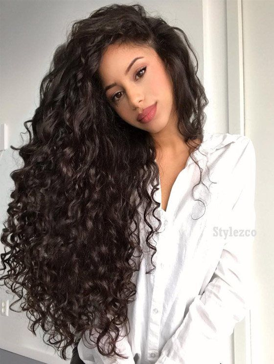 Stunning Long Curly Hairstyle Trends For 2019 Curly Hair Styles Curly Hair Styles Naturally Side Curly Hairstyles