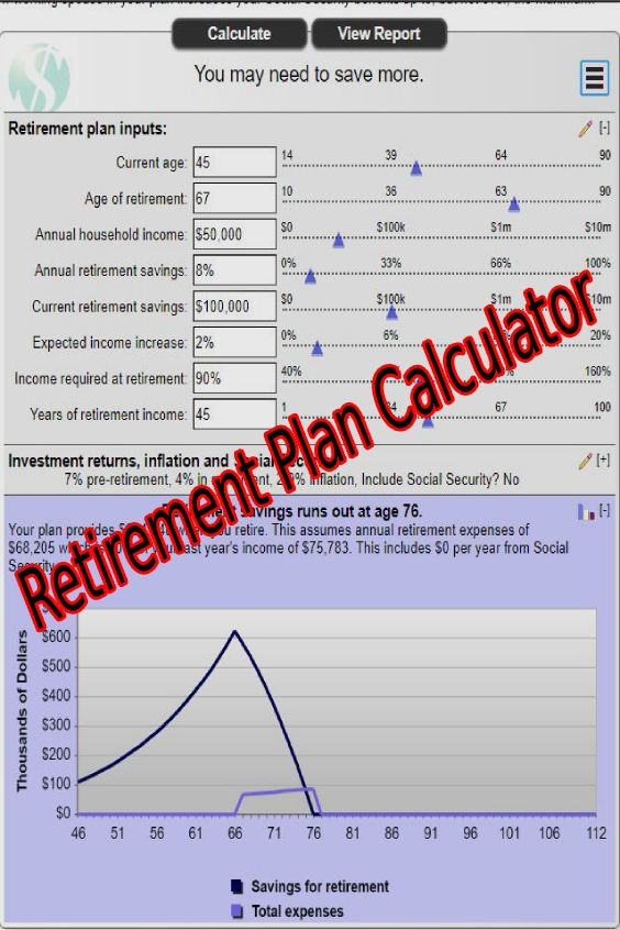 Retirement Plan Calculator Retirement Saving Calculator Saving Calculator Social S Retirement Planning Retirement Planning Calculator Investing For Retirement