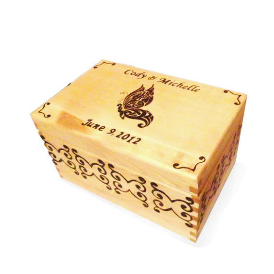Personalized Butterfly Wedding Box on Etsy, £30.34