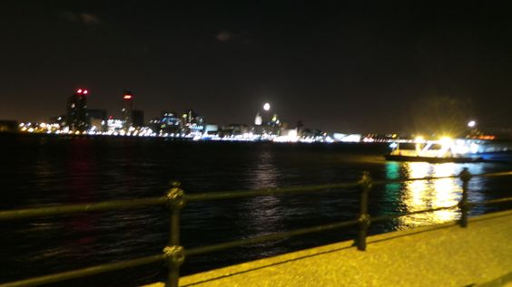 Liverpool at night