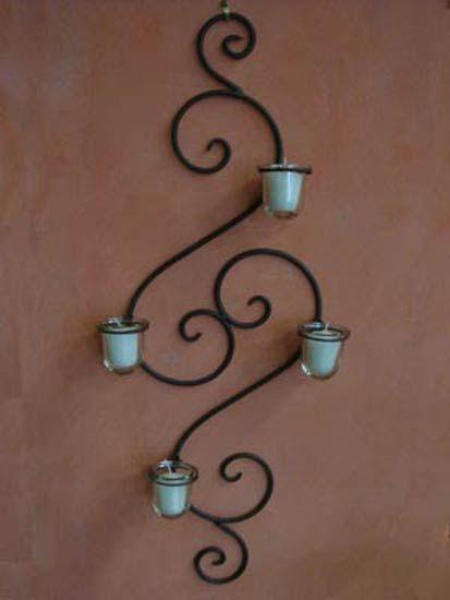 Herrer a comedor pinterest muro de hierro house y - Portavelas de hierro ...