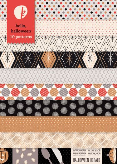 Hello, Halloween Patterned Papers (Set 1)