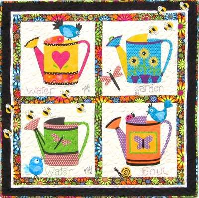 Water My Garden Water My Soul Quilt Pattern, very cute bright and fun!