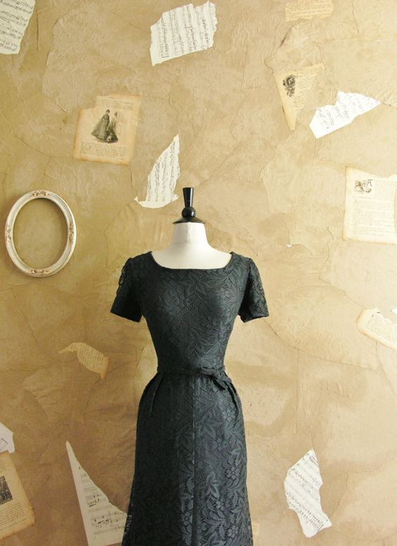 Vintage 1950s From Day To Night Dress by VeryVintageStore on Etsy