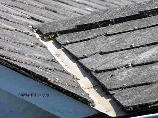 Hardies Super Six Roof Sheeting, Also Showing The Asbestos Containing Hip  And Ridge Flashing And A Ridge Vent. Description From Builderbill Diy Helu2026