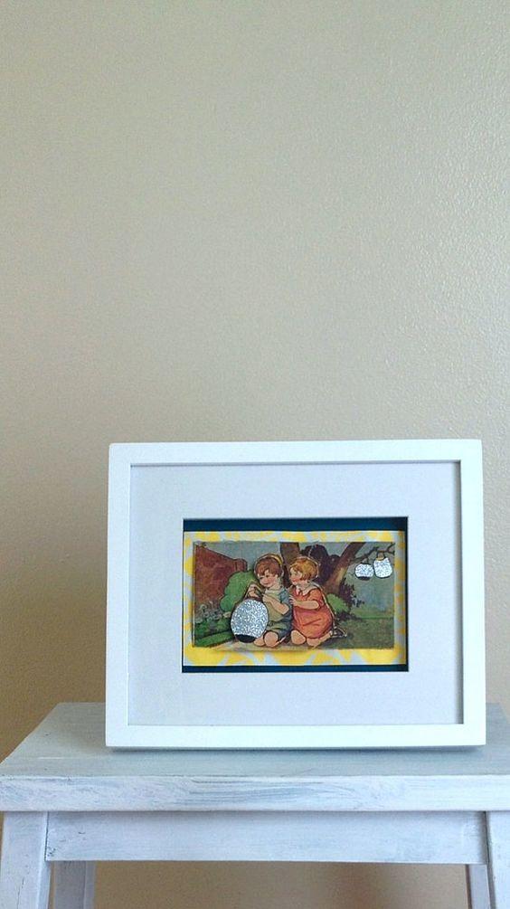 Light the Lanterns - Vintage Children's book Framed 3D Artowrk on Etsy, $35.00 AUD