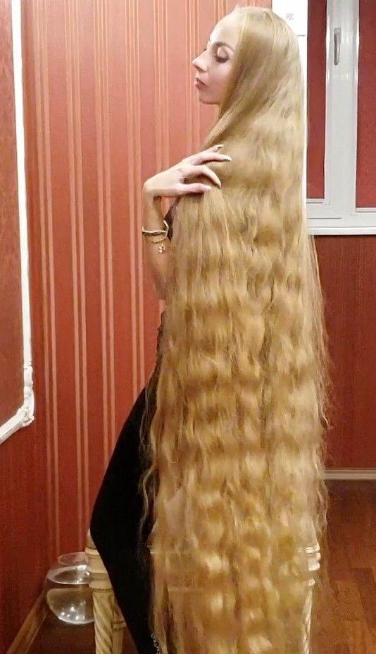 Video Alena Perfect Long Hair Long Hair Styles Really Long Hair Curly Hair Styles
