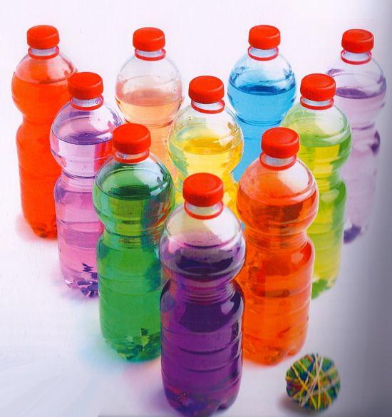 Resultado de imagen para boliche botellas de colores