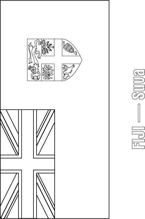 Fiji Flag Coloring Page Flag Coloring Pages Fiji Flag New
