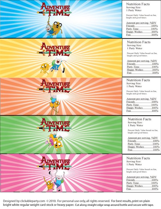 Adventure Time! Free Printable Party | Clickable Party