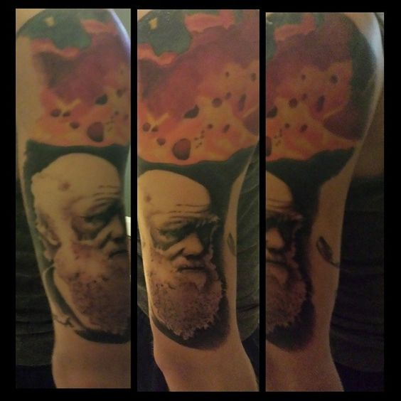 #tattoos #tattoo #modifiedguys #modified #stretchedears #atheisttattoo #atheist #atheism #antitheist #religion #godless #truth #freethinker #evolution #darwin #charlesdarwin