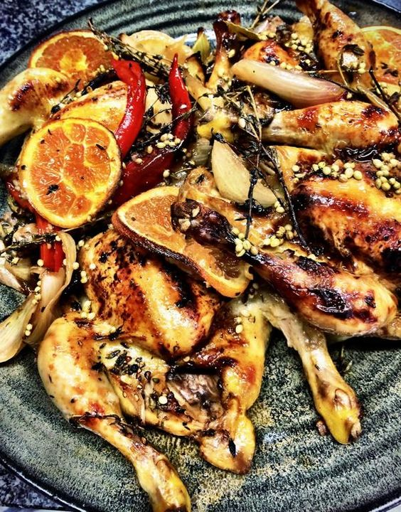Twitter | Roasted poussin with fennel seeds