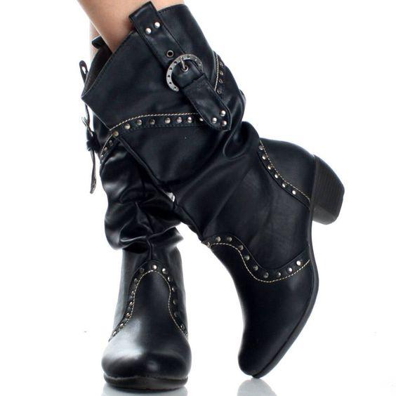 Womens Black Cowboy Boots, TJ Maxx? | Boots, Heels etc ...