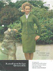 Ladyship 4149 ladies suit vintage knitting pattern