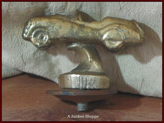CAR Solid Heavy Brass Plated Metal Trophy Award Topper Ornament Unbranded  Junk 660  http://ajunkeeshoppe.blogspot.com/