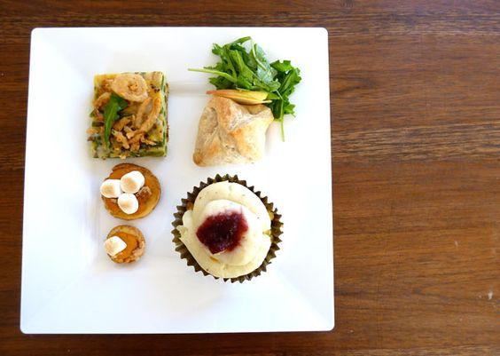 Thanksgiving savory cupcakes