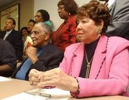 Evelyn Lowery, wife of Southern Christian Leadership Council president and Civil Rights icon, Joseph Lowery has transitioned on 9.25.13. She was 88. Mrs. Lowery was head of the Women's SCLC. The Lowerys were together for 70 years! 2004 photo