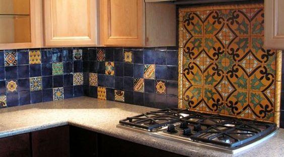 Mexican Themed Kitchen Decor Ideas? :  wedding decor fiesta kitchen mexican Kitchen Backsplash Talavera Mexican Tile