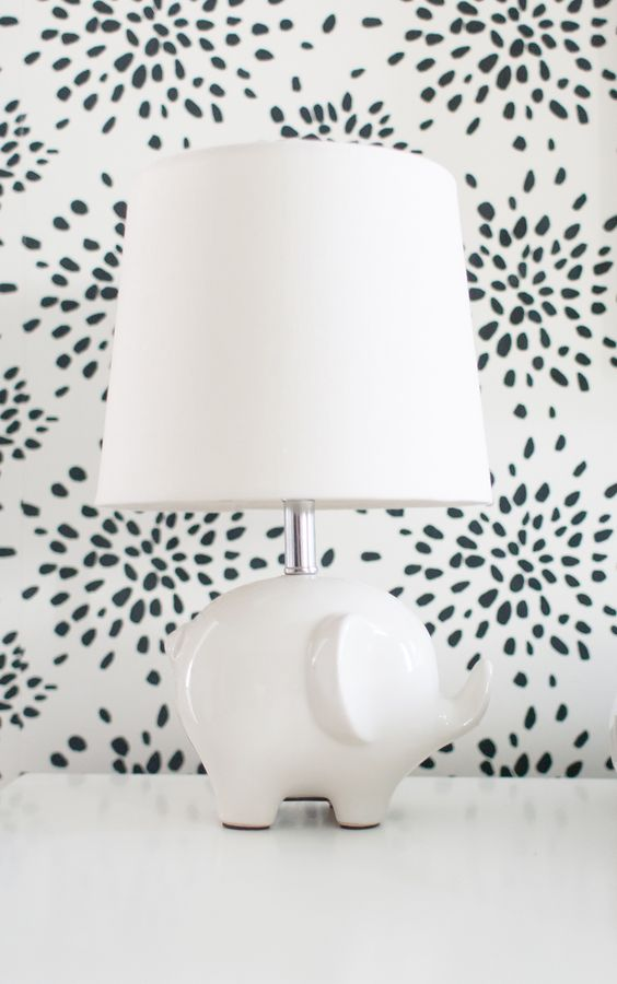 Nursery Elephant Lamp - so chic!