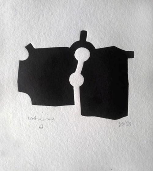 eduardo chillida Zubi Xilografía 1989 Tirada de 50 ejemplares. Numerados y firmados. 24.5 x 21 cm