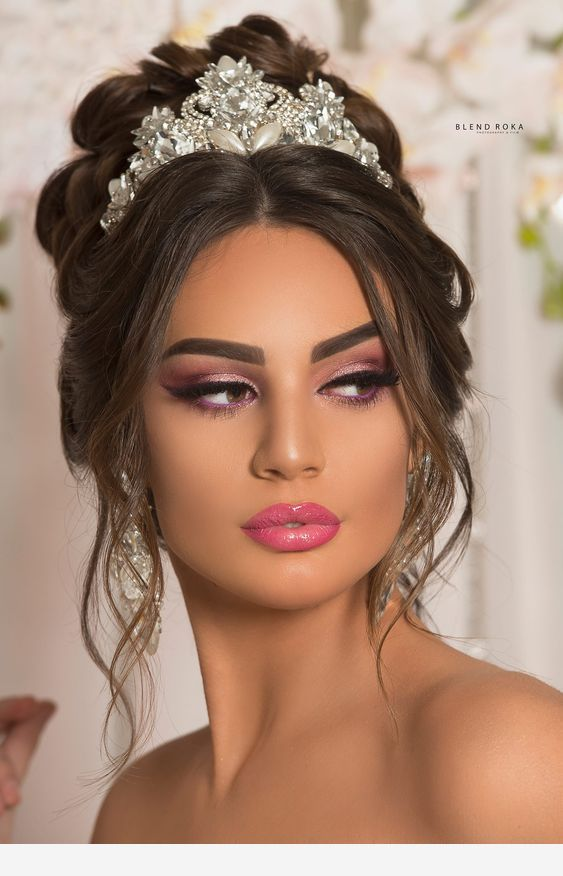The Perfect Wedding Hair Do It Natural Wedding Makeup Wedding Makeup Looks Bride Makeup