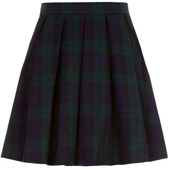 blue and green tartan skater skirt 109 400 idr found on