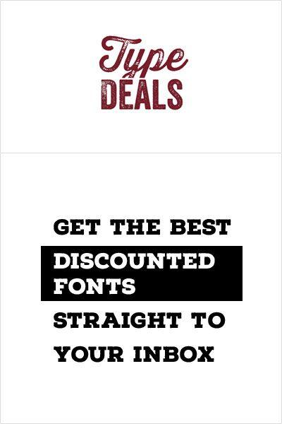 font deals banner