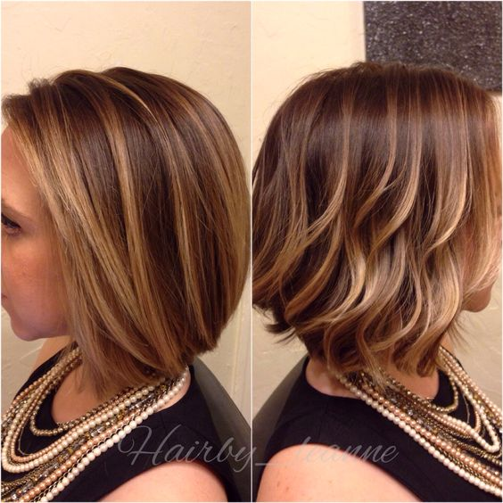 Balayage Bronde Bob Styled Two Ways Curled Waves Or Blow
