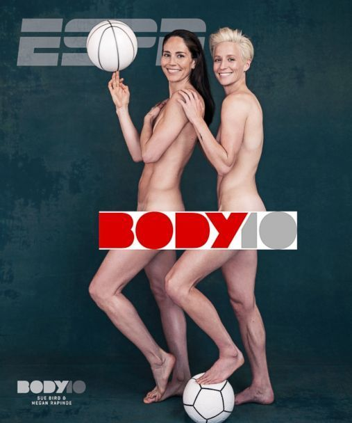 1st Lgbtq Couple Featured On Cover Of Espn The Magazine S Body Issue Body Issues Megan Rapinoe Female Athletes