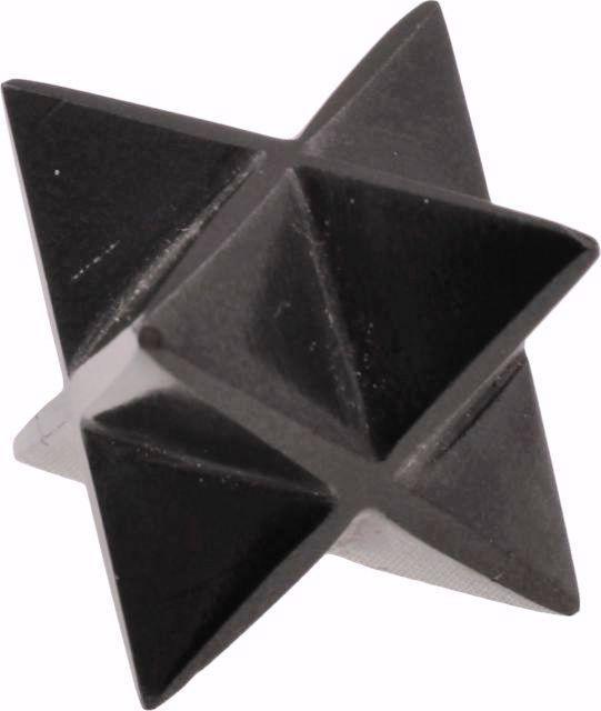 Large 55MM Black Tourmaline Crystal Sacred Quartz Healing Merkaba Star 8 Point